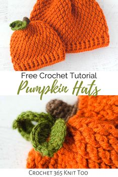 crochet hat patterns What do you get when you combine texture, cozy and a burst of fall color? Why, a crochet pumpkin hat, of course! Let me tell you why I love this hat (and you w Crochet Pumpkin Hat, Easy Crochet Hat, Crochet Baby Hat Patterns, Crochet Headband Pattern, Crochet Toddler, Crochet Kids Hats, Crochet Fall, Halloween Crochet, Baby Hat Crochet