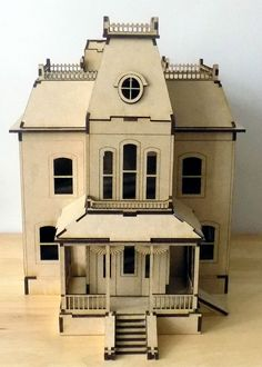 PYO Self Assembly Bates Motel Psycho 3D Puzzle Wooden House Miniature Hitchcock