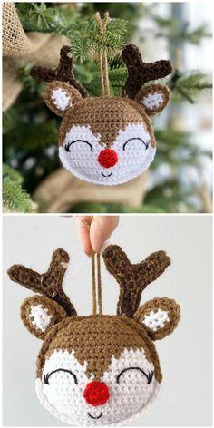 Crochet Christmas Decorations, Crochet Christmas Ornaments, Christmas Knitting, Handmade Christmas, Christmas Crafts, Crochet Ornament Patterns, Christmas Crochet Patterns, Holiday Crochet, Crochet Toys Patterns
