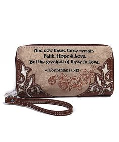 b161835507d5 Blue Heaven Brown 1 Corinthians 13 13 Wallet