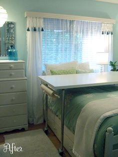 Great way to combine guest room with craft room