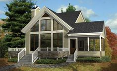 Vacation Haven - 80817PM | Beach, Mountain, Vacation, Canadian, Metric, Narrow Lot, 2nd Floor Master Suite, CAD Available, Loft, PDF | Architectural Designs