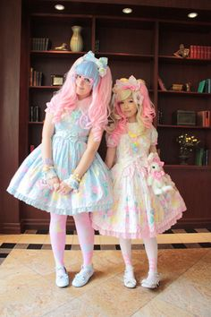 Joyce and I at Atomic Lollipop 2012! (☆^ー^☆) We got to judge Canada's Next Top Lolita on this day, and wanted to dress similarly together.