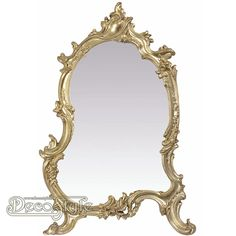 Goudkleurige Tafel Spiegel Branch  Goudkleurige Tafel Spiegel met sierlijke vormen. Zeer gedetailleerd uitgevoerde spiegel.  Materiaal: Polystone / Hout  Kleur: Goud  Afmetingen: Hoogte: 56 cm Breedte: 37 cm Diepte: 4 cm  RESIN DRESSING TABLE MIRROR