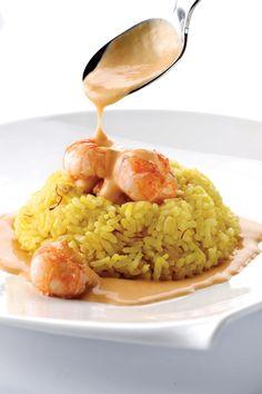 Saffraanrisotto met langoustines http://www.njam.tv/recepten/saffraanrisotto-met-langoustines