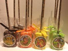 Lion king themed Rice Krispie treats