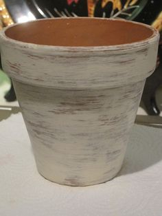 Aged look for terracotta pots.