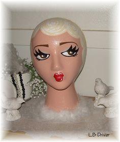 Landfill Ladies  Hand Painted Mannequin Display Head / by LBDK, $28.00