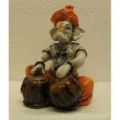 Fiber Ganesha Playing Tabla