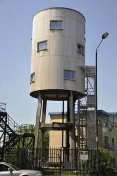 Water tower redesigned into a house. Via Treehugger: