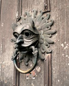Door knocker, Durham Cathedral, UK