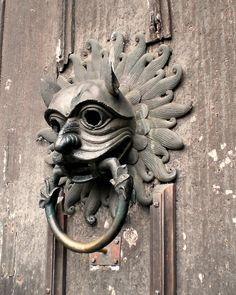 Door knocker, Durham Cathedral, UK