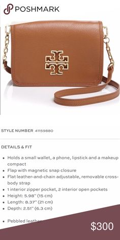 adaaf70e553 Tory Burch Crossbody!! Only used a few times! The perfect everyday bag!