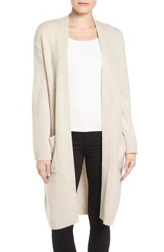 Emerson Rose Open Front Long Cashmere Cardigan available at #Nordstrom