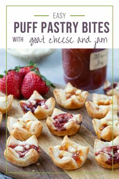 This super easy appetizer will be the hit of your next party! #appetizer #puffpastryappetizer #happyhour Puff Pastry Appetizers, Puff Pastry Recipes, Puff Pastries, Party Appetizers, Cake Ingredients, Homemade Tacos, Homemade Taco Seasoning, Cheese Bites, Recipes