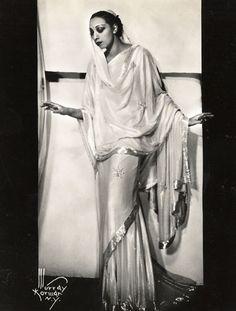 Josephine Baker in a sari and bindi