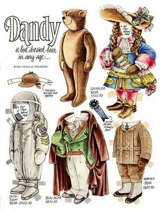 The Teddy Bear and Friends Paper Doll Fantasy: Dandy