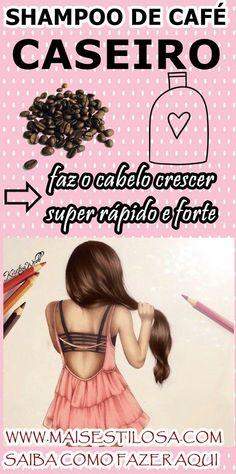 COMO FAZER SHAMPOO DE CAFÉ CASEIRO: faz o cabelo crescer mais rápido. Deixa os fios com muito brilho e fortalecidos. #projetorapunzel #receitasnaturais #DIY #natureba #shampoodecafé #receitascaseiras #receitacaseira