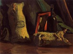 Still Life with Two Sacks and a Bottle, 1884 Vincent van Gogh