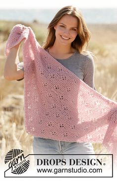 Did you know there are over 200 DROPS catalogues filled with thousands of free knitting patterns and crochet patterns for the whole family? Poncho Knitting Patterns, Shawl Patterns, Knitted Poncho, Knitted Shawls, Crochet Scarves, Crochet Clothes, Crochet Patterns, Drops Design, Drops Cotton Light
