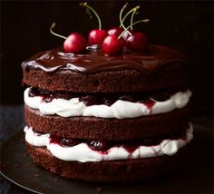 Black Forest gâteau -  This is an authentic recipe, although gathering the ingredients may be a challenge -  djc