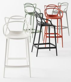 Kartell Masters Bar Stools by Philippe Starck I think these stools seem fun. They look comfortable yet stylish with the design of the seat back.
