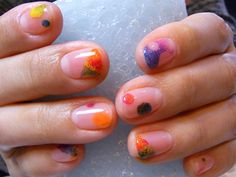 colorful nail art. this would be perfect for spring/summer.