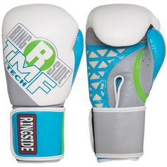 70ad3620418 Ringside Womens IMF Tech Sparring Gloves White Blue 12Ounce   Go to the  photo link