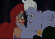Si Ariel y Úrsula hubieran tenido la cara de la otra: