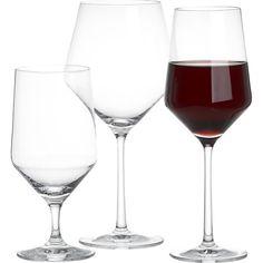 Pretty! Tour Wine Glasses in Wine Glasses | Crate and Barrel