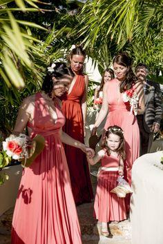 The maids! Pippas Wedding, Maids, Gowns, Beach, Antigua, Vestidos, Dresses, Girls, Curve Dresses
