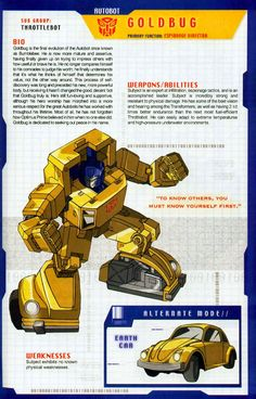 Transformer of the Day: Goldbug