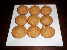 ~Apple Cinnamon Oatmeal Muffins~  2 1/2 cup oats   1 cup Whole milk yogurt  2 eggs  1/2 cup Honey  1 1/2 tsp baking powder  1/2 tsp baking soda  1 1/2 cup Chopped apples  2 tsp Cinnamon    Preheat oven to 400. Blend all ingredients except apples in blender til smooth. Put in bowl. Add apples and stir. Place in greased muffin pan. Bake for 20 minutes.