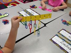 Kindergarten Number Sense Activities Made Simple-Use linking chains to create sets                                                                                                                                                     More