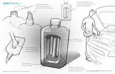 Packaging Concepts by Colin Jackson, via Behance Drawing Tips, Drawing Sketches, Sketching, Presentation Boards, Presentation Design, Designs To Draw, Cool Designs, Industrial Design Sketch, Product Sketch