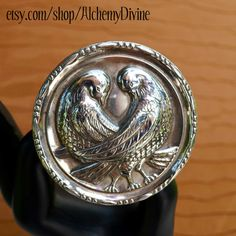 Vintage Sterling Lovebirds Brooch doves by AlchemyDivine on Etsy, $24.00