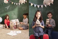 Lille Huset - craft and DIY creative wood dollhouse kits for kids