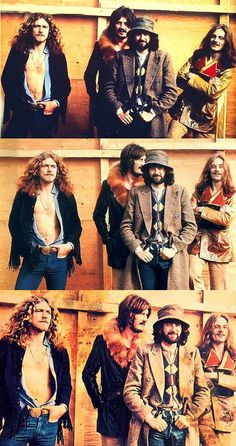 Robert Plant, John Bonham, Jimmy Page e John Paul Jones em 1977, durante a turnê do Led Zeppelin pelos EUA