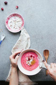 Whipped Cranberry Porridge | My Blue&White Kitchen