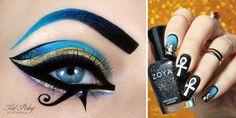 Katy Perry Dark Horse inspired makeup and nail-art Ancient Egyptian Makeup, Egyptian Women, Egyptian Art, Makeup Art, Beauty Makeup, Makeup Ideas, Beauty Tips, Cleopatra Makeup, Kati Perri