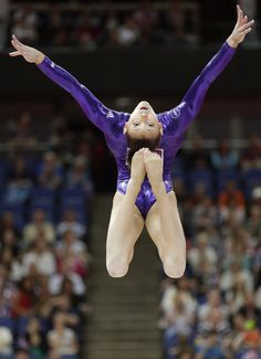 U.S. gymnast Kyla Ross performs on the balance beam.