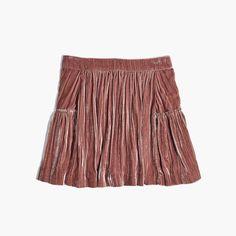madewell velvet mini skirt. #giftwell