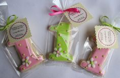 number cookie party favors