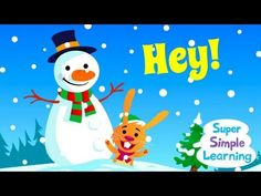 """""""Jingle Bells"""" video from Super Simple Songs - Christmas!! Easy call and response format helps kids learn the words."""