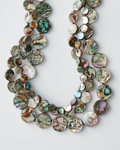 Chan Luu Tiered Abalone Necklace at Garnet Hill