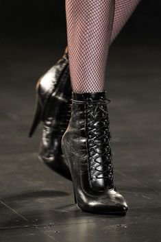 Boots at Saint Laurent by Hedi Slimane Fashion Week, Fashion Models, Fashion Shoes, Hedi Slimane, Ankle Boots, Heeled Boots, Walk In My Shoes, Tap Shoes, Fancy Shoes