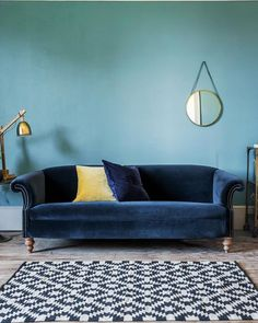 Swoon! We can't get over just how dreamy our new Regency Velvet Sofa is!