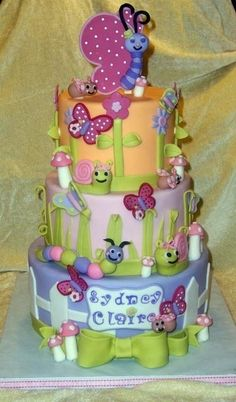 Garden Baby Shower By charliecakes on CakeCentral.com