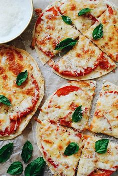 Caprese Tortilla Pizza Snacks
