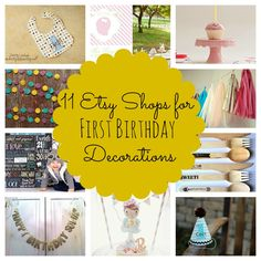 My Favorite Etsy Shops for First Birthday Decorations